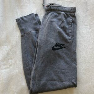 gray Nike joggers